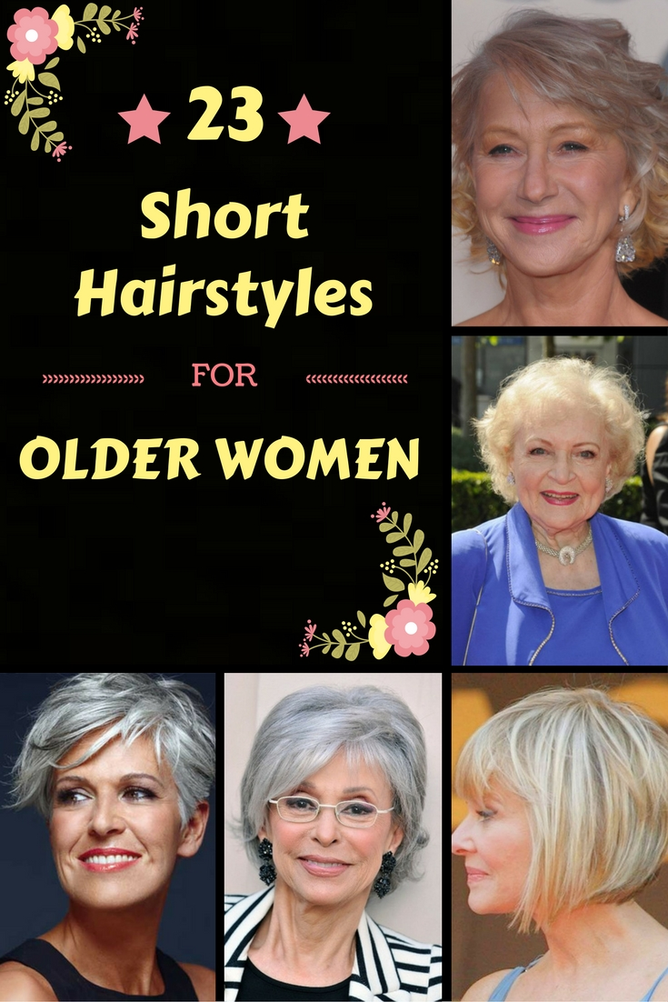 Classy & Simple: 23 Short Hairstyles For Older Women - ZoomZee.org