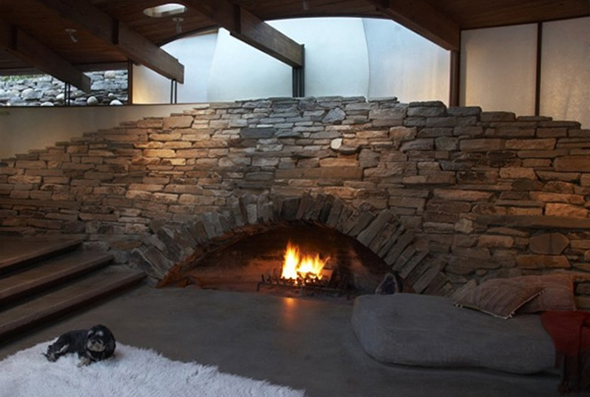 15 natural stone fireplace ideas for a warm winter - zoomzee
