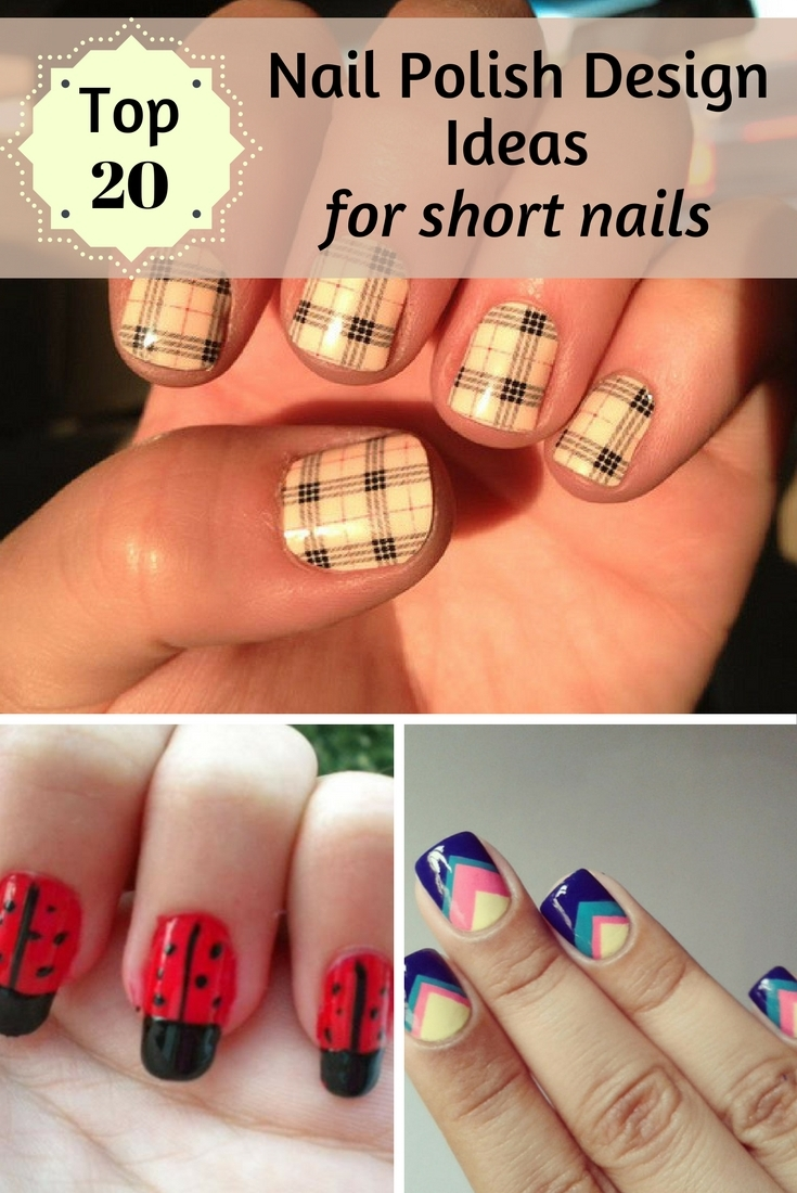 top 20 nail polish design ideas for short nails