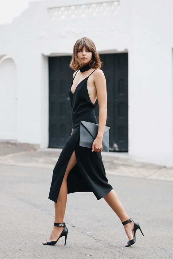 db2d0611937 minimal5-lbd-black-slip-dress-black-sandals-skinny-scarf-streetstyle-how-to- wear-slip-dress-trend-2016 - ZoomZee