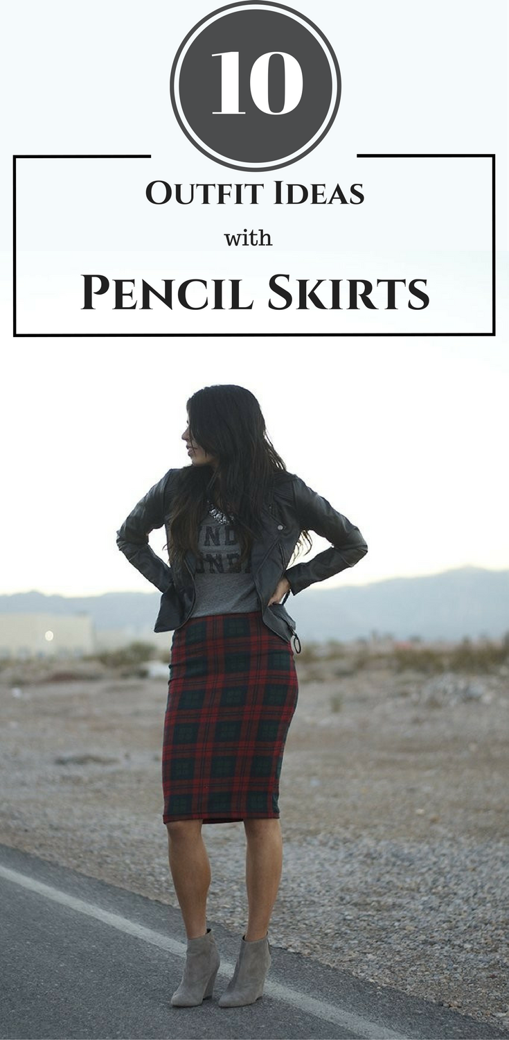10 Outfit Ideas with Pencil Skirts