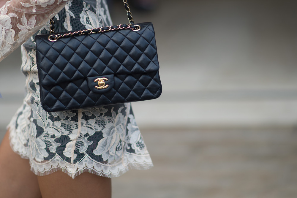 NEW YORK, NY - SEPTEMBER 05: A guest wearing a Chanel bag in the Streets of Manhattan during the New York Fashion Week on September 5, 2014 in New York City.  (Photo by Timur Emek/Getty Images)