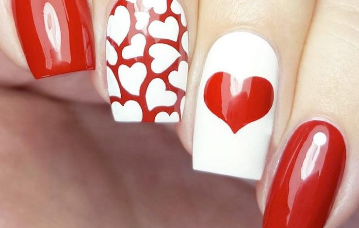 Photo of Top 20 Romantic & Cute Nail Art For Valentine's Day