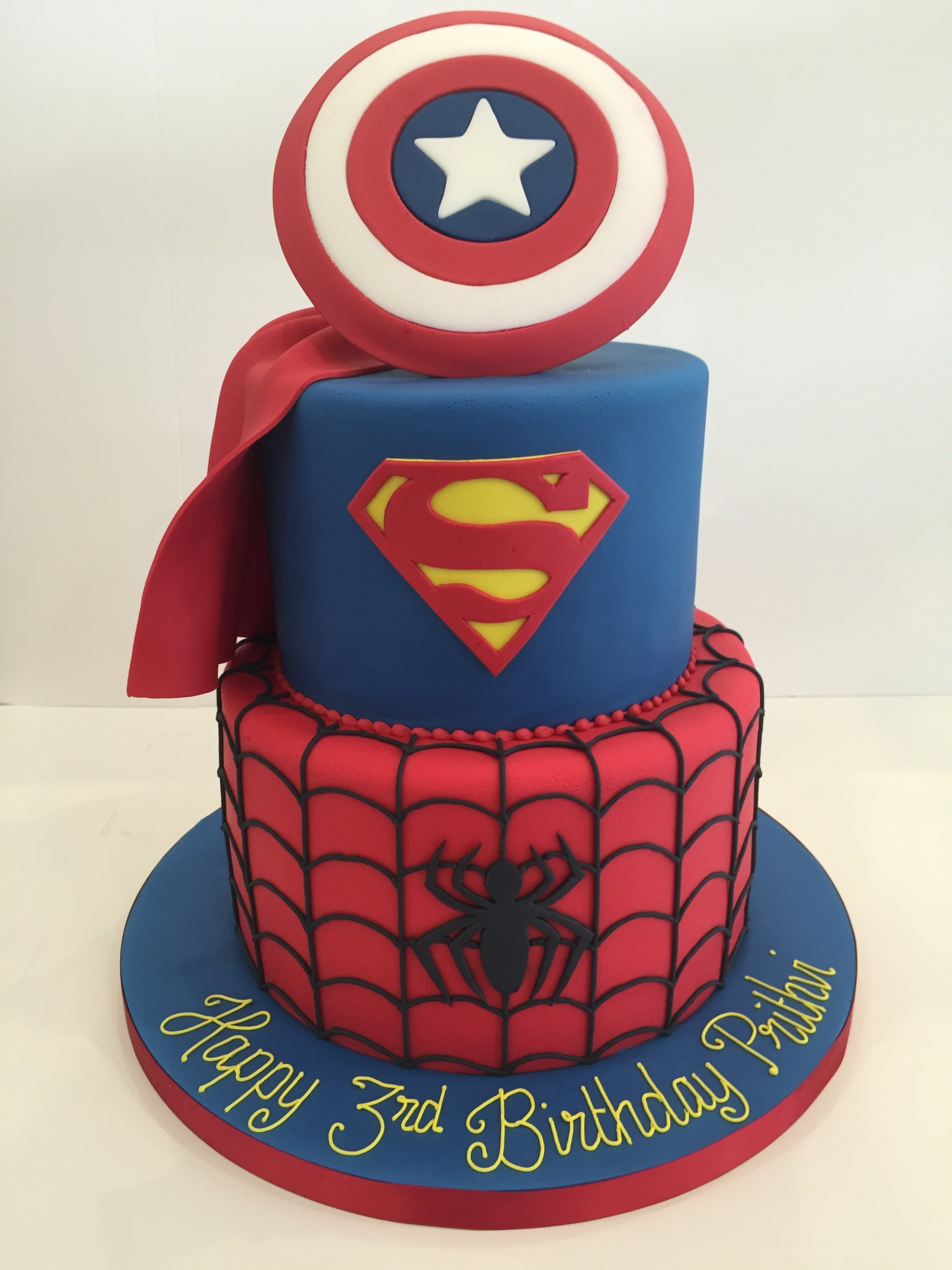 Superman S Birthday Cake